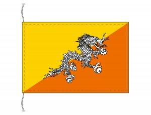 ブータン国旗(卓上旗16×24cm)【メール便対応商品】