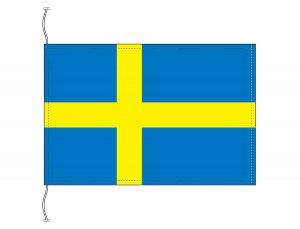 スウェーデン国旗(卓上旗16×24cm)【メール便対応商品】
