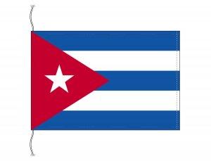 キューバ国旗(卓上旗16×24cm)【メール便対応商品】