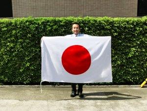 国旗日の丸・(テトロン・100×150cm)【水をはじく撥水加工付き】