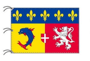 ローヌ=アルプ地域圏 フランス地域圏の旗・州旗(140×210cm)
