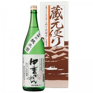 中乗さん 低精白 自家栽培米 純米酒 【贈答用】 1800ml
