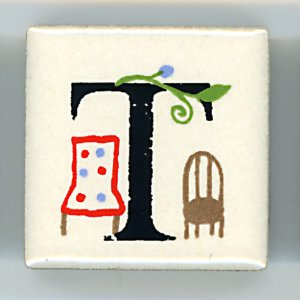 アルファベット ピチタイル T  (Alphabet Petit Tile T)