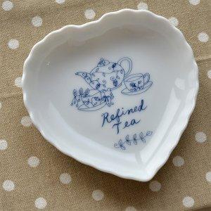 ブルーキッチン シリーズ 陶器 ハートトレー