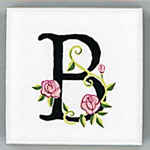 アルファベットタイル[ROSE]45mm角 B  (Alphabet Tile ROSE 45mm Square B)
