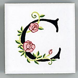 アルファベットタイル[ROSE]45mm角 C  (Alphabet Tile ROSE 45mm Square C)