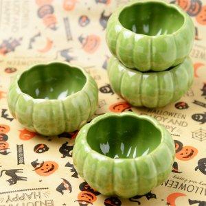 かぼちゃの形の陶器 カップ M 4個入り 各種 No.223   120cc
