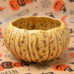 かぼちゃの形の陶器 カップ Lサイズ 4個入り 140cc