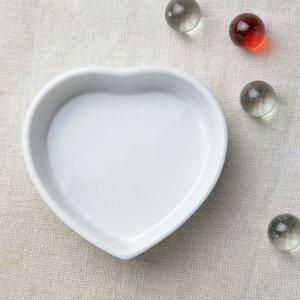 ハートの形をした陶器 ハートM 白 6個入