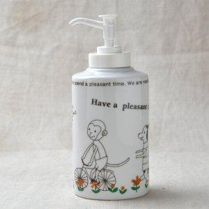 Shinzikatoh シンジカトウデザイン HP 陶器ソープボトル (Ceramic Soap Dispenser)