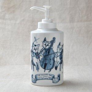 Shinzikatoh シンジカトウデザイン HU 陶器ソープボトル B(Ceramic Soap Dispenser)