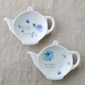 Shinzikatoh シンジカトウ デザイン ブルーローズ  ティートレー 小皿各種