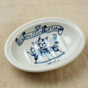 Shinzikatoh シンジカトウ デザイン ユーモレスク  ソープデッュA 陶器の石鹸置き(Humoresque Ceramic Soap dish)