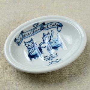 Shinzikatoh シンジカトウ デザイン ユーモレスク  ソープデッュC 陶器の石鹸置き(Humoresque Ceramic Soap dish)
