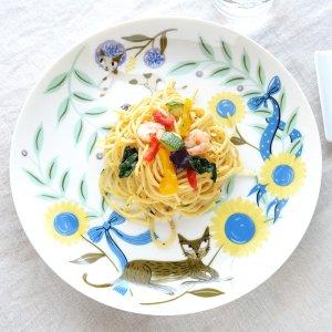 Shinzi katoh シンジカトウ お洒落なねこのイラストが可愛い 陶器の大皿 プレートRIC