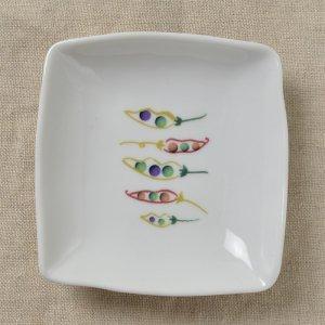 Shinzi katoh シンジカトウ まめの立体感あるデザインがお洒落可愛い。陶器の小皿<br> Joy Mart ジョイマートシリーズ いろとりさら まめA  美濃焼