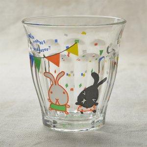 Shinzikatoh シンジカトウ デザイン Caramel Animalsシリーズ ガラスのコップ ビガーグラス Rabbit Race