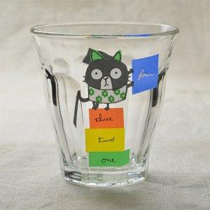 Shinzikatoh シンジカトウ デザイン Caramel Animalsシリーズ ガラスのコップ ビガーグラス Tiny Cat