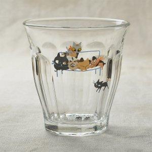 Shinzikatoh シンジカトウ デザイン アニーブンキャッツシリーズ ガラスのコップ ビガーグラス UN