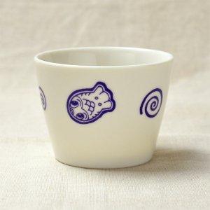 Shinzi katoh シンジカトウ 藍色で描かれた金魚のイラストが可愛いデザートカップ A