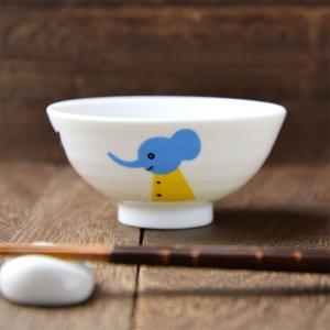 Shinzi Katoh シンジカトウ デザイン <br>くまやねこ、アヒルにぞう、動物柄が優しく描かれた陶器のお茶碗 日本製 Sサイズ