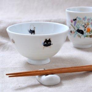Shinzi Katoh シンジカトウ デザイン 仲良しの猫6匹があつまった猫のイラストが可愛<br>アニーブンキャッツ シリーズ UN お茶碗 E 日本製 Sサイズ