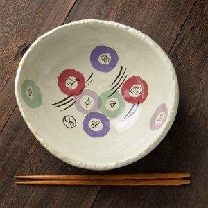 Shinzi Katoh シンジカトウ デザイン 陶器の温かみを感じさせる和のデザイン<br>月見横丁シーリーズ 深鉢 ボウル 日本製