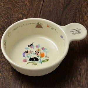 シンジカトウ 可愛い食器 猫のデザイン UNグラタン皿 FLOWER