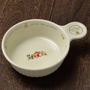 シンジカトウ 可愛い食器 テディベアのデザイン OUグラタン皿