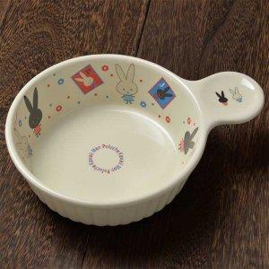 シンジカトウ 可愛い食器 ウサギのザイン MPグラタン皿