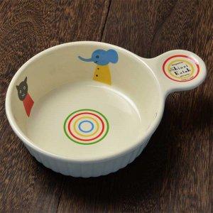 Shinzi katoh シンジカトウ デザイン <br>ねこ・くま・アヒルにゾウと優しい動物のイラストがグラタン皿にデザイン<br>仲良し シリーズ NA グラタン 日本製 美濃焼