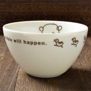 Shinzi katoh シンジカトウ 困り顔のくまのイラストが愛くるしいデザイン <br>Cute&Silly Bears シリーズ 陶器のCSカフェオーレボウル 美濃焼