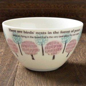 Shinzi katoh シンジカトウ 優しい森のイメージ、心安らぐデザインが人気 <br>Birds neets  シリーズ 陶器のBNカフェオーレボウル 美濃焼