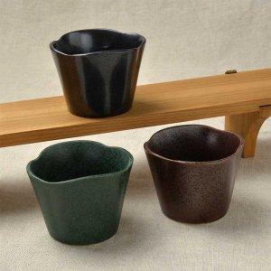 限定セット 縁起のいい松・竹・梅の松をイメージした小鉢 <br>No.245  松形小鉢 3色セット 美濃焼 90cc