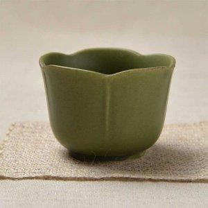 限定セット 松・竹・梅の梅の形をイメージした小鉢 <br>No.247 梅型小鉢 織部マット 6個セット 美濃焼 100cc