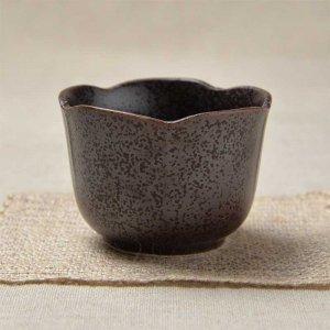 限定セット 松・竹・梅の梅の形をイメージした小鉢 <br>No.247 梅型小鉢 茶水晶 6個セット 美濃焼 100cc
