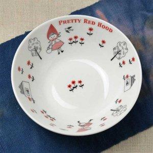 Shinzi katoh シンジカトウ デザイン 赤ずきんちゃんとオオカミとは実は仲良し?<br>人気の赤ずきんちゃん シリーズ RH マルチボウル(サラダボウル)  日本製 美濃焼
