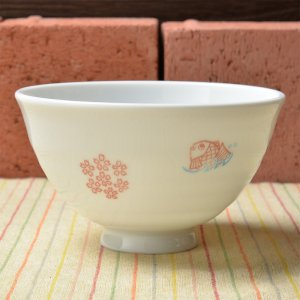 Shinzi Katoh シンジカトウ デザイン 桜と鯛のお洒落な大人のデザイン和柄<br>TAI 鯛 シリーズ お茶碗 日本製 Lサイズ