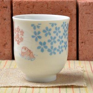 Shinzi Katoh シンジカトウ デザイン 桜と鯛のお洒落な大人のデザイン和柄<br>TAI 鯛 シリーズ  ゆのみ 美濃焼 日本製