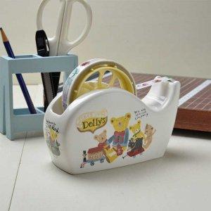 シンジカトウ デザイン レトロなくまのイラストが可愛い<br>Dolly's ドーリーズシリーズ  DO陶器のテープカッター (Dolly's series Tape cutter)