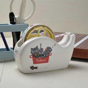 Shinzi katoh シンジカトウ 黒猫のイラストが心和みます<br>NEKOCOシリーズ  NE陶器のテープカッター (Nekoco series Tape cutter)