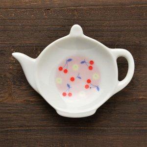 可愛い食器 シンジカトウ サクランボのデザインが可愛い ポットの形 小皿 JMティートレーC