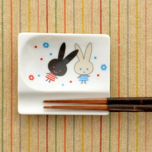 可愛い食器 シンジカトウ 箸置き小皿 うさぎ MPおもてなしレスト