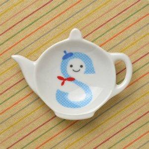 可愛い食器 シンジカトウ ポットの形にお洒落なデザイン 陶器の小皿 RPティートレーS