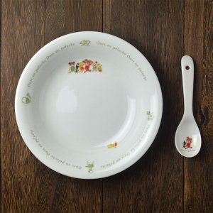 可愛いお皿 シンジカトウ くまのイラストが可愛い OUカレー&スープ