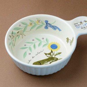 シンジカトウ 可愛い食器 猫とひまわりのデザイン RICグラタン皿