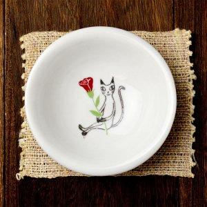 可愛い食器 シンジカトウ 黒猫シリーズ 小鉢 PTミニボウルB