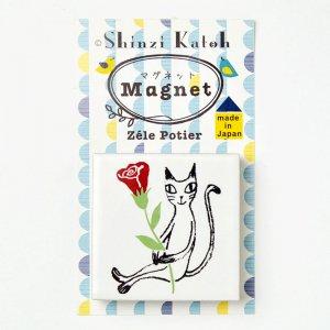 可愛い文房具 シンジカトウ 黒猫シリーズ マグネット PTマグネットタイル