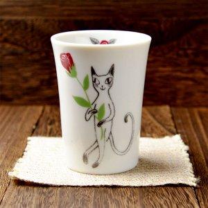可愛い食器 シンジカトウ 黒猫シリーズ 陶器のタンブラー