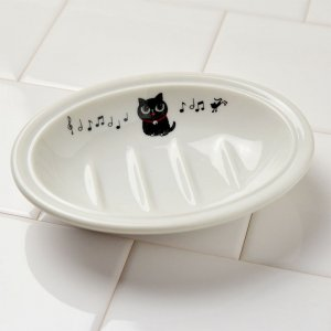 <img class='new_mark_img1' src='https://img.shop-pro.jp/img/new/icons10.gif' style='border:none;display:inline;margin:0px;padding:0px;width:auto;' />Shinzikatoh シンジカトウ 黒猫のイラストが可愛い石鹸置き NEソープディッシュ